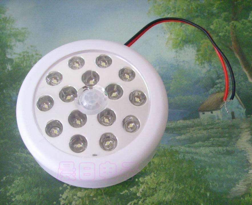 220v12v接线15led红外线感应灯人体感应灯