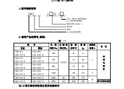dkz电子式直行程电动执行器