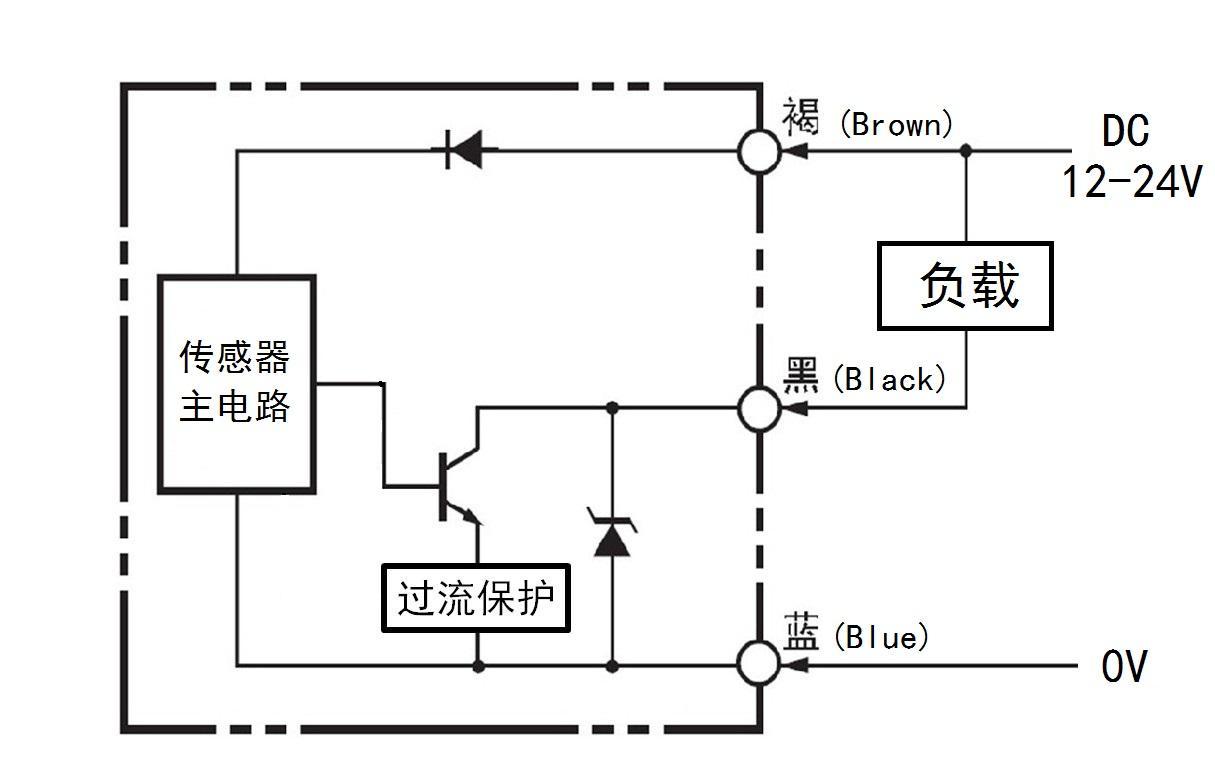 光电开关 传感器 pnp 接线图