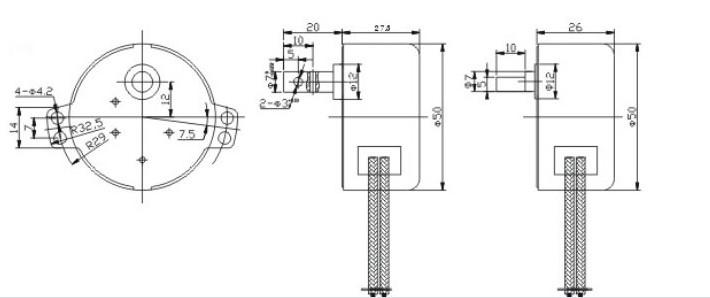 单向转50空调扇专用同步电机