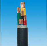 聚录乙烯绝缘阻燃电力电缆ZR-VV4*10+1*6 0.6/1KV