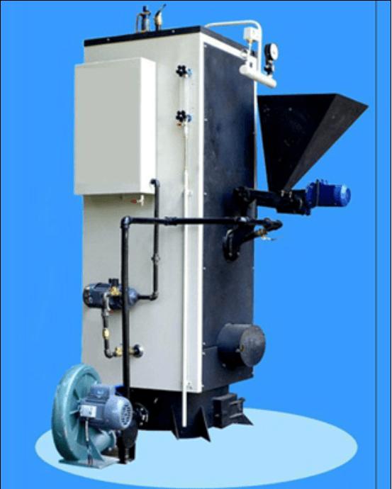 该系列燃生物质颗粒锅炉采用立式冲天管结构