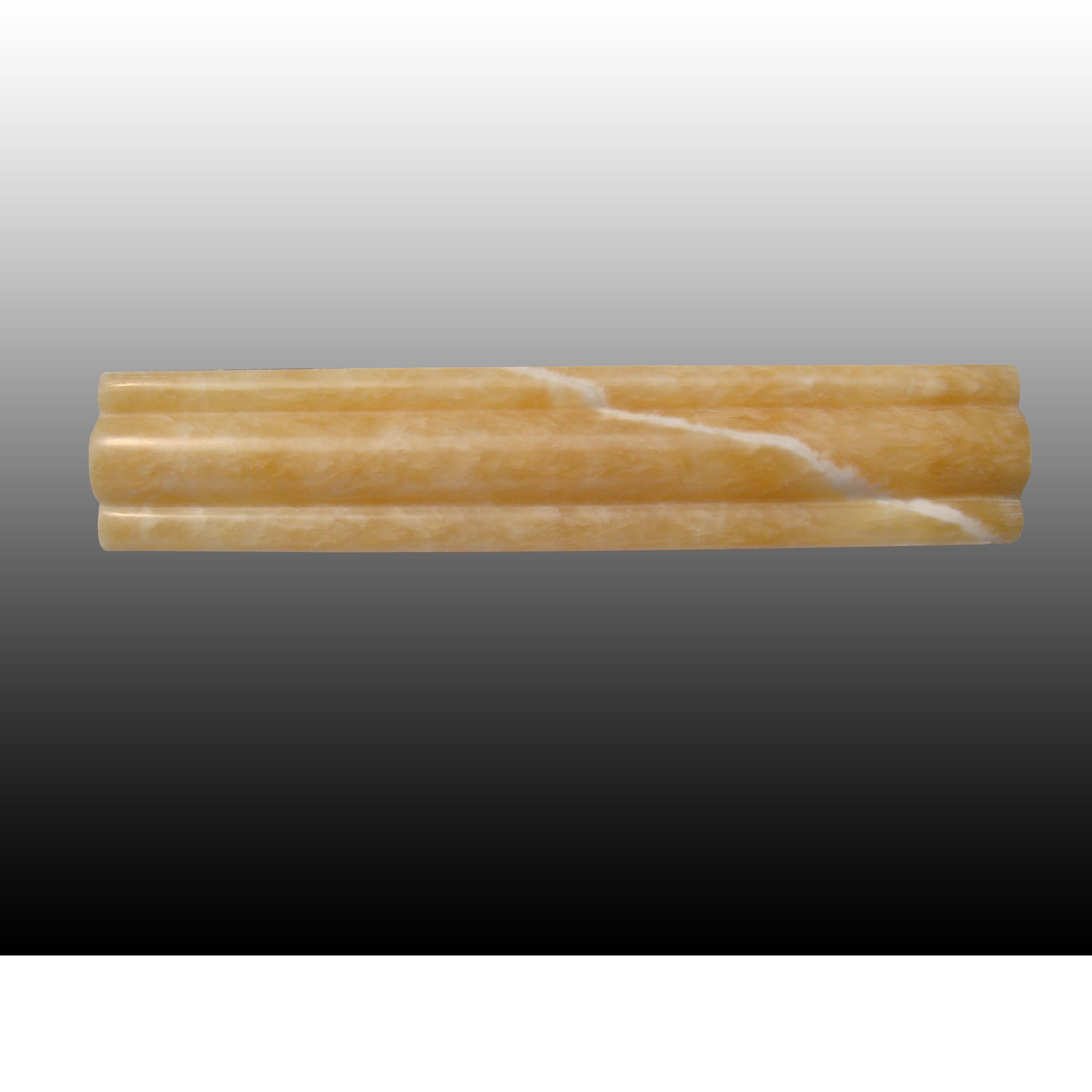 松香黄玉石线条边框 8cm01款