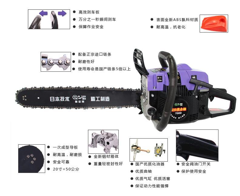 油锯刹车板结构图解