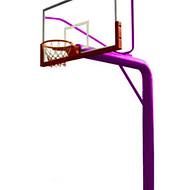 室外预埋式圆管篮球架